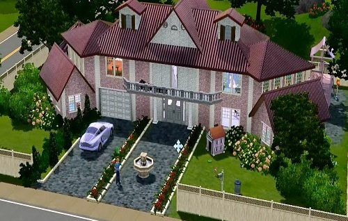 Сиреневый дом в симс 3