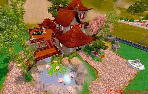 Дом для симс 3 в китайском стиле