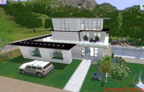 Современный дом одного сима