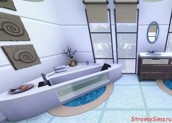 Ванная комната лавандового цвета для Симс 3