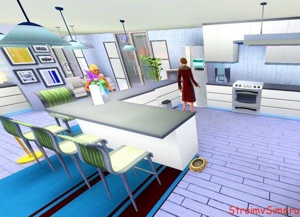 Дизайн современной кухни для Симс 3