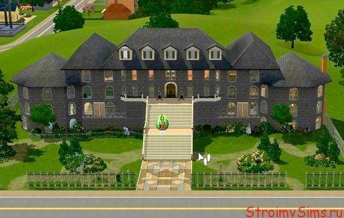 Обзор дома для Симс 3 открывается кликом по картинке