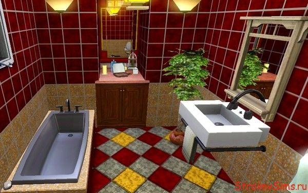 Санузел с душевой кабинкой и ванной