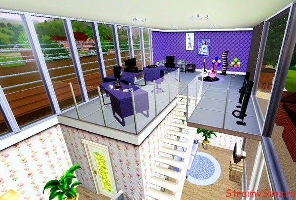 Комната со студией звукозаписи в доме для Sims 3
