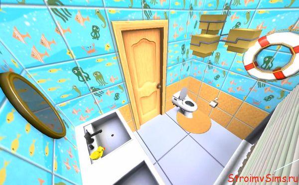 Туалет в гостевой для двойняшек