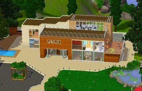 Симс 3 строительство дома со студией звукозаписи