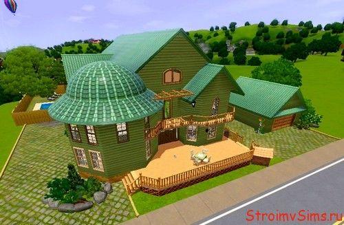 Зелёный дом в Sims 3