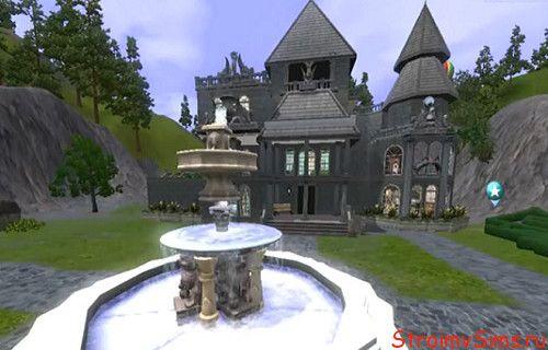 Замок для вампиров и фей для Симс 3