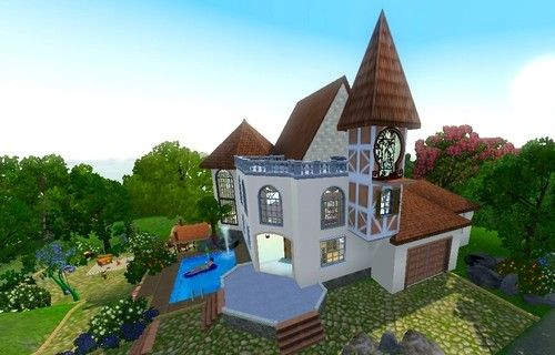 Богатый дом для Sims 3.