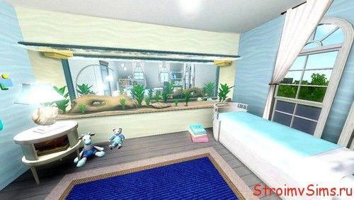 В симс 3 можно встраивать аквариум в стену