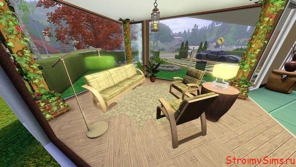 Современный дом в Симс 3