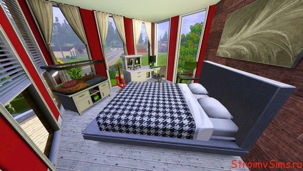 Спальная комната для Симс 3