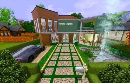 Современный дом для модных симов.