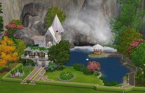 Особняк в горах для Симс 3