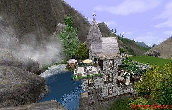 Дом у горного озера для 5 симов