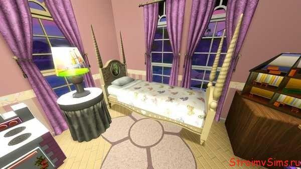 Кроватка с единорогами в Симс 3