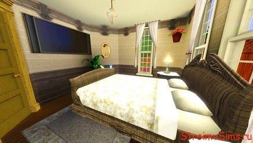 Спальня с большим телевизором