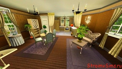Кухня-студия в гостиной