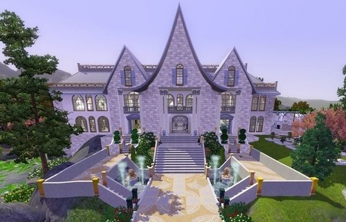 Шикарный особняк в Sims 3