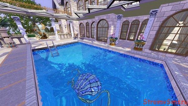 Дом для Симс 3 с бассейном