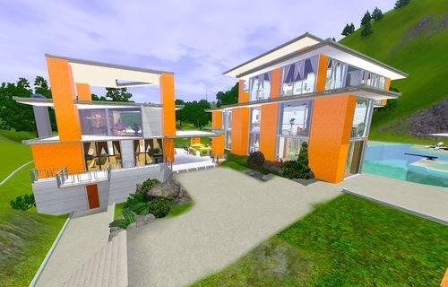 Строим дом в Симс 3.