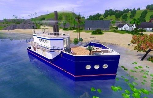 Домик-корабль для 3 симов.