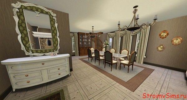 Интерьер домика для гостей симов