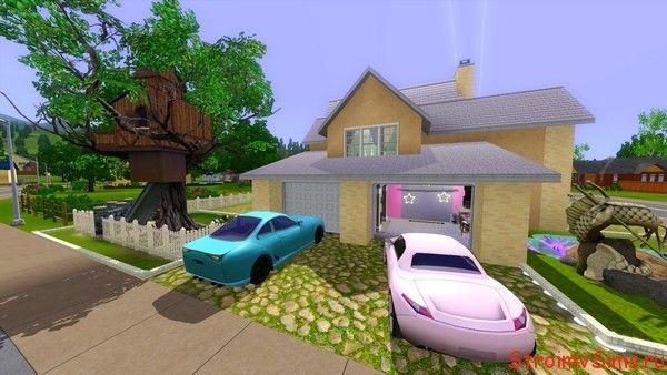 Расположение гаражей за домом