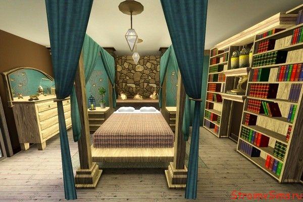 Огоньки в дизайне спальни для Симс 3