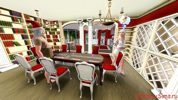 Кухня студия отделяется от гостиной арками