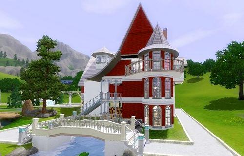 Строительство красивого дома для Симс 3.