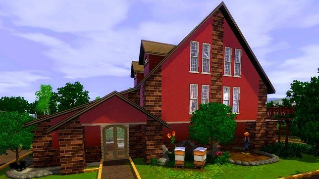 Деревенский домик в Симс 3