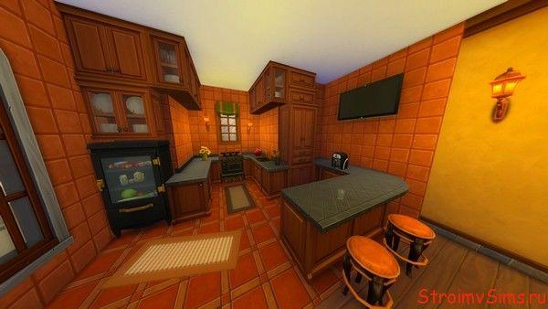 Дизайн кухни дома в The Sims 4