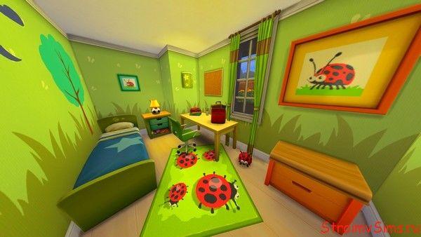 Комната для школьника в Симс 4