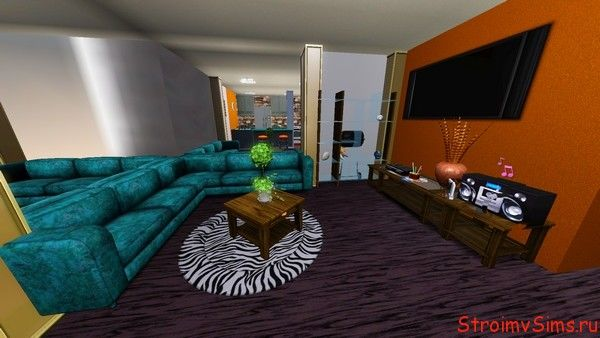 Зал для симов в цокольном этаже