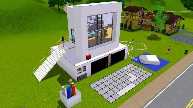 Домик для Симс 3 в виде компьютера