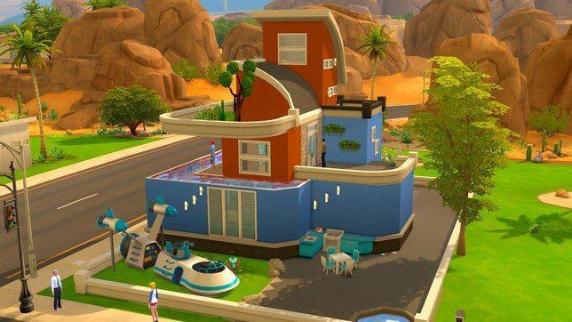 Маленький дом в Sims 4