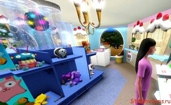 Стеллаж с игрушками в магазине для Симс 3