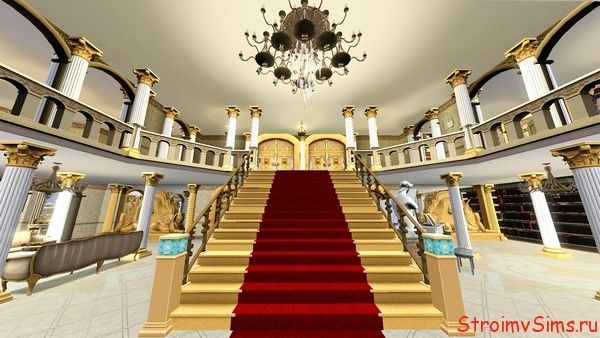 Парадная лестница на второй этаж