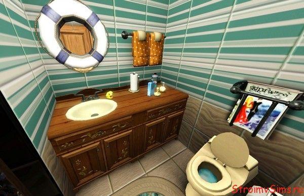 Дизайн ванной для Симс 3