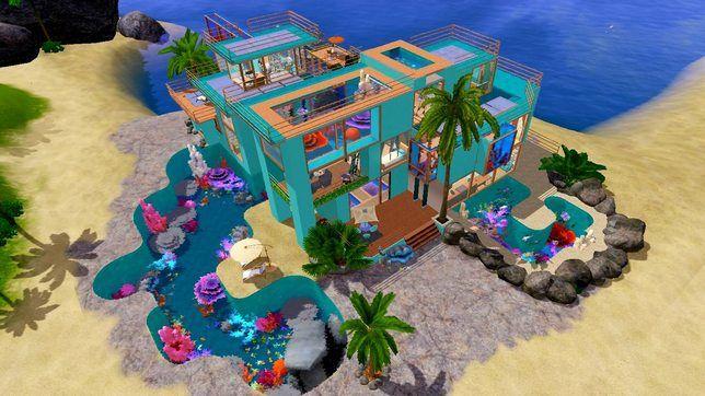 Для The Sims 3 строительство дома «Лазурит»