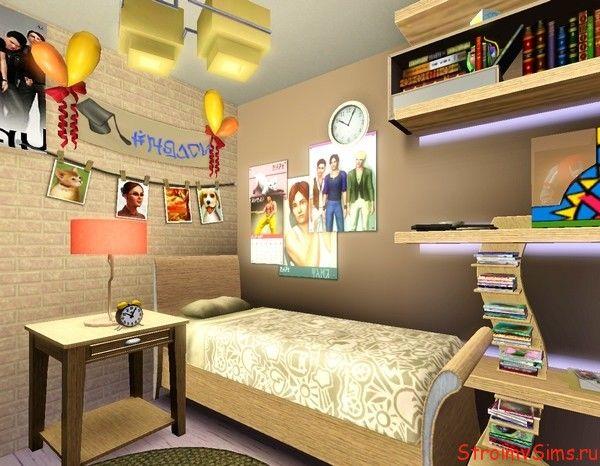 Дизайн комнаты подростка для The Sims 3