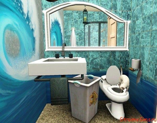 Оформление стен ванной в симс 3