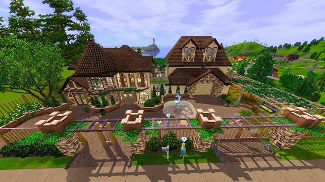 Строительство дома на горе в Симс 3
