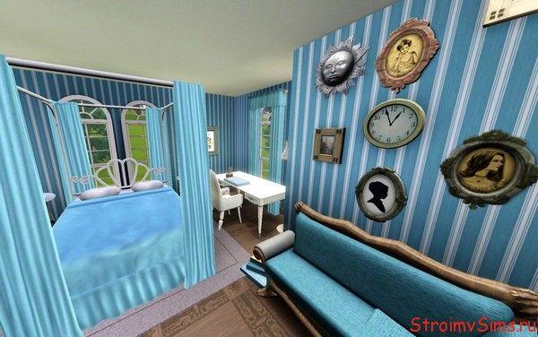 Оформление спальни в гостевом домике