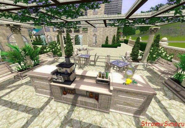Оформление крытой площадки для отдыха
