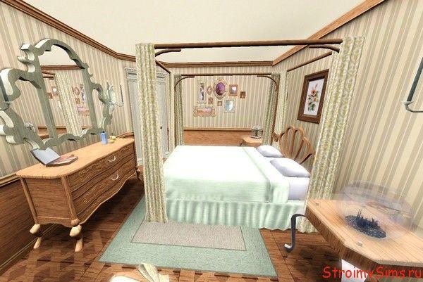 Оформление спальни для пары симов