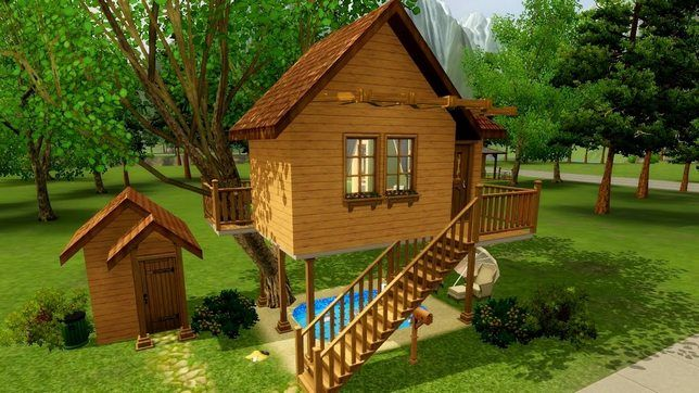 Строим для Sims 3 домик на дереве