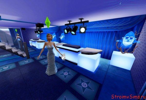 Дизайн ночного клуба в отеле «Атлантис» для Симс 4.
