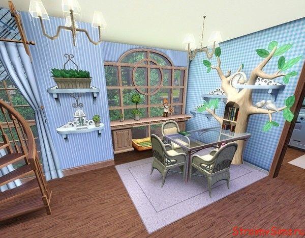Продолжение кухни в домике для гостей.